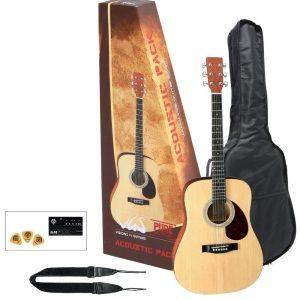 VGS Akustikgitarre Acoustic Pack Gitarre natur