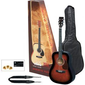 VGS Akustikgitarre Acoustic Pack Gitarre violinburst