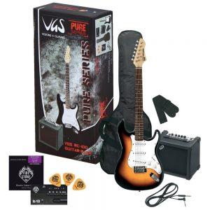VGS E-Gitarre RC-100 Guitar Pack 3-Tone Sunburst