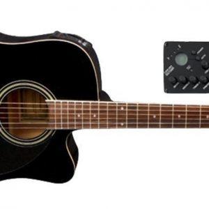 VGS E-Akustikgitarre D-10 CE Schwarz