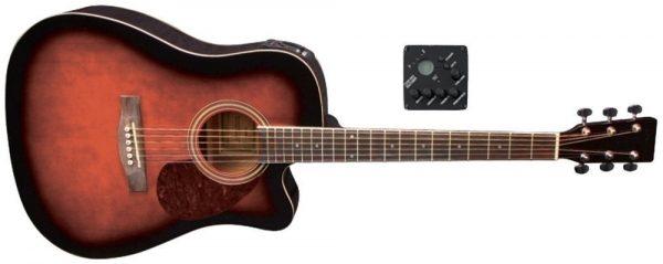 VGS E-Akustikgitarre D-10 CE Violinburst