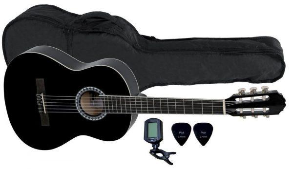 VGS E-Akustik Klassikgitarre Basic Set 3/4 schwarz