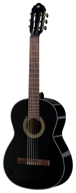 Klassikgitarre Student Schwarz 4/4 Groesse schwarz