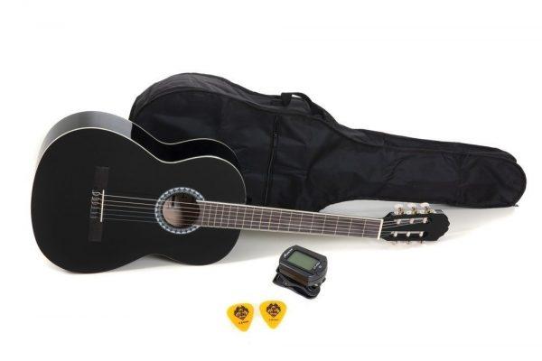 VGS E-Akustik Klassikgitarre Basic Set 4/4 schwarz