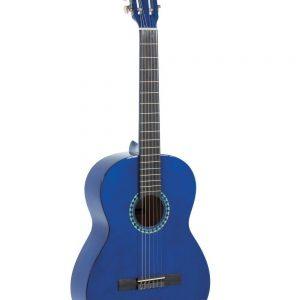 VGS E-Akustik Klassikgitarre Basic 4/4 transparent blau