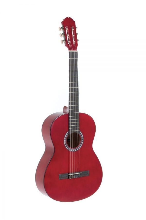 VGS E-Akustik Klassikgitarre Basic 4/4 transparent rot