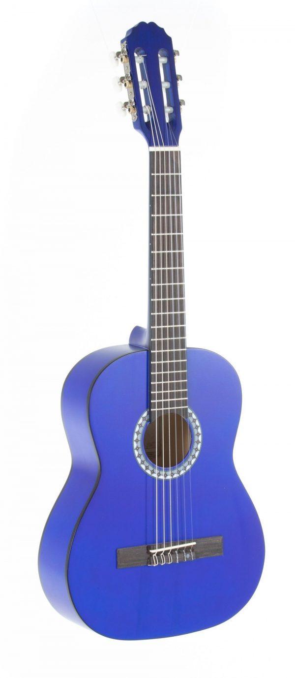 VGS E-Akustik Klassikgitarre Basic 1/2 transparent blau