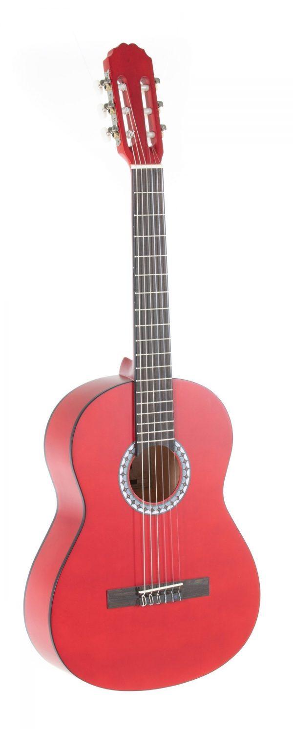 VGS E-Akustik Klassikgitarre Basic 3/4 transparent rot
