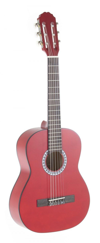 VGS E-Akustik Klassikgitarre Basic 1/2 transparent rot