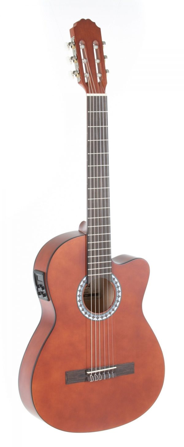 VGS E-Akustik Klassikgitarre Basic E-Akustik, walnuss, Slim Body