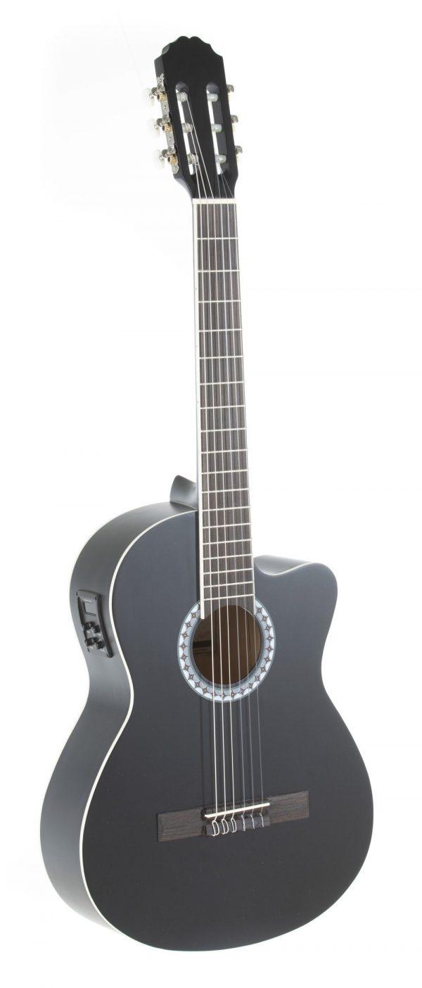 VGS E-Akustik Klassikgitarre Basic E-Akustik, schwarz