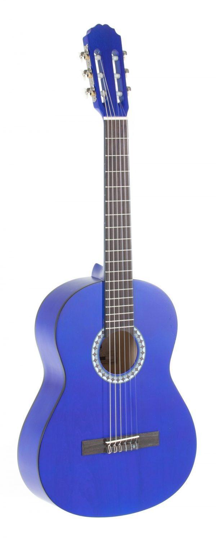 VGS E-Akustik Klassikgitarre Basic 3/4 transparent blau