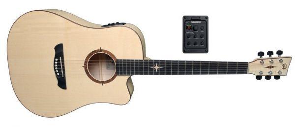 VGS Akustikgitarren E-Akustikgitarre P-10 CE Polaris Natural Satin Open Pore